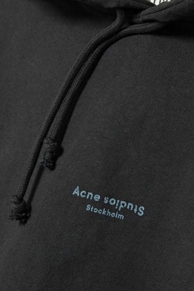 Acne Studios Joggy verkürztes Kapuzenoberteil aus Baumwoll-Jersey