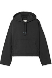 Acne Studios Joggy cropped cotton-jersey hooded top