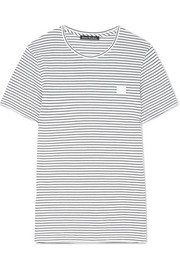 Nele Face appliquéd striped cotton-jersey T-shirt