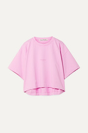 Cylea cropped printed cotton T-shirt