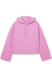 Joggy printed cotton-jersey hooded top