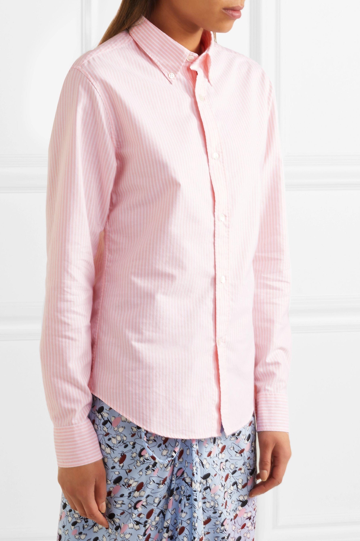 Acne Studios Ohio Face striped cotton shirt