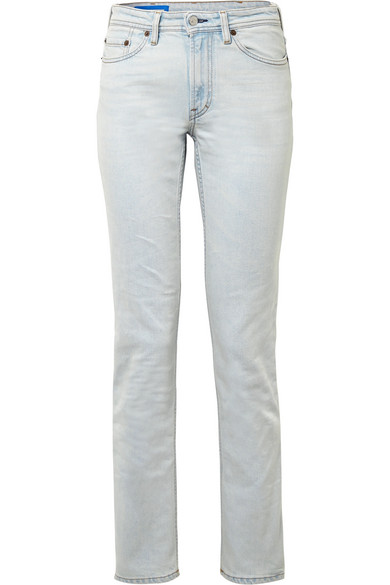 South Mid-rise Straight-leg Jeans - Mid denim Acne Studios