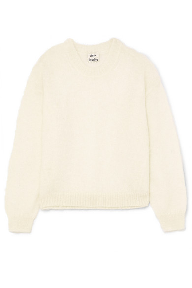 In Mitra Sweater White Knitted Studios Acne nxIYP5