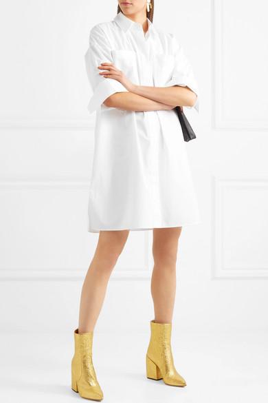 Acne Studios Jacui Pop Hemdblusenkleid aus Baumwollpopeline