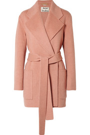 Acne Studios Anika belted wool and cashmere-blend coat