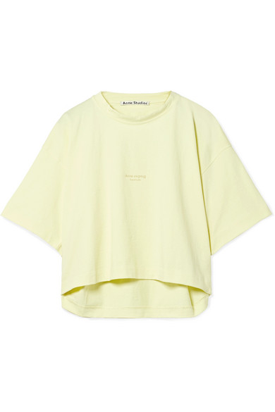 Acne Studios Cylea Truncated T-shirt Made Of Cotton With Print