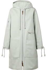April hooded cotton-canvas parka