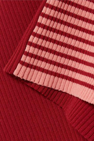 Acne Studios Winnie gestreifter Pullover aus einer gerippten Baumwollmischung