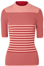 Acne Studios Winnie striped ribbed cotton-blend sweater