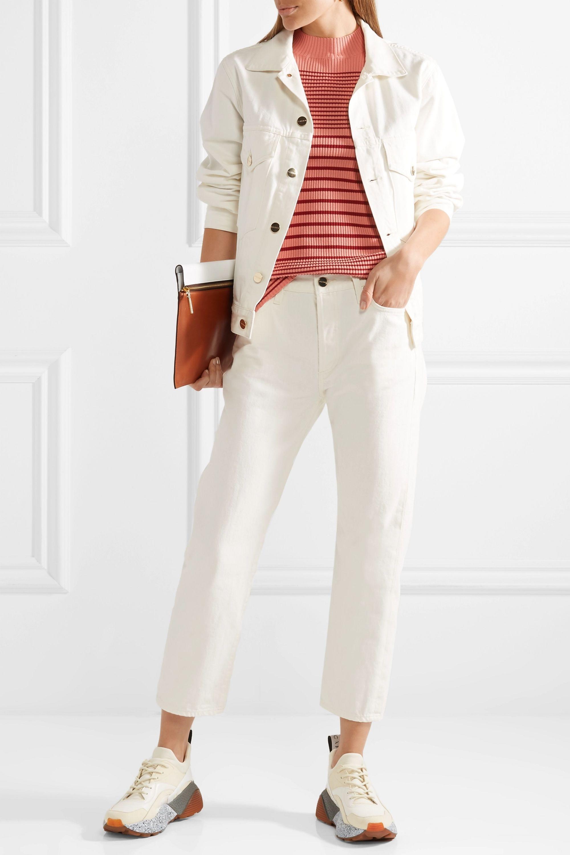 Acne Studios Winnie striped ribbed cotton-blend sweater