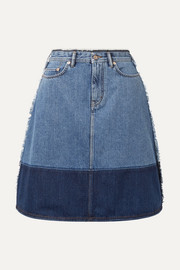Halona two-tone denim skirt