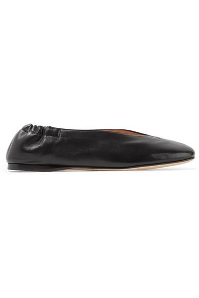 Oddry elasticated-heel leather ballet flats