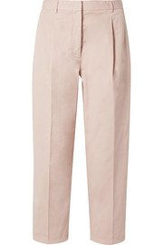 Acne Studios Tabea cropped cotton-twill straight-leg pants