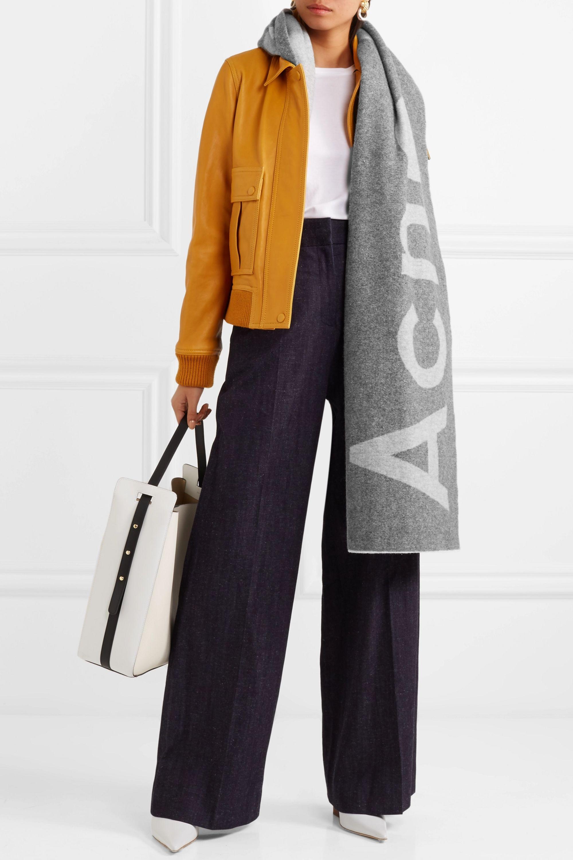 Acne Studios Toronto Schal aus einer Wollmischung mit Intarsienmotiv