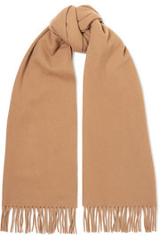 Acne Studios Canada Narrow fringed wool scarf