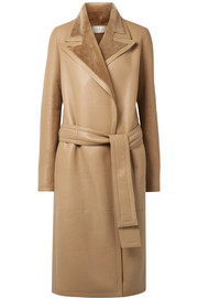 Cintry shearling trench coat