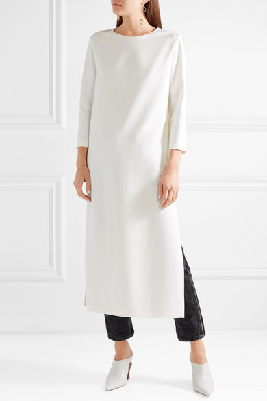 The Row Nolia Crepe Midi Dress