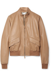 Erhly leather bomber jacket