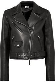 Perlin leather biker jacket