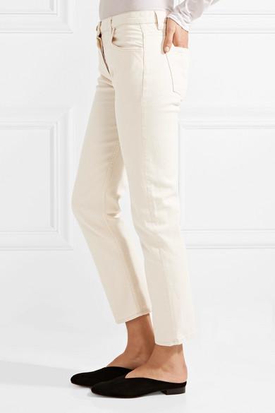 The Row Ashland verkürzte, halbhohe Jeans mit geradem Bein