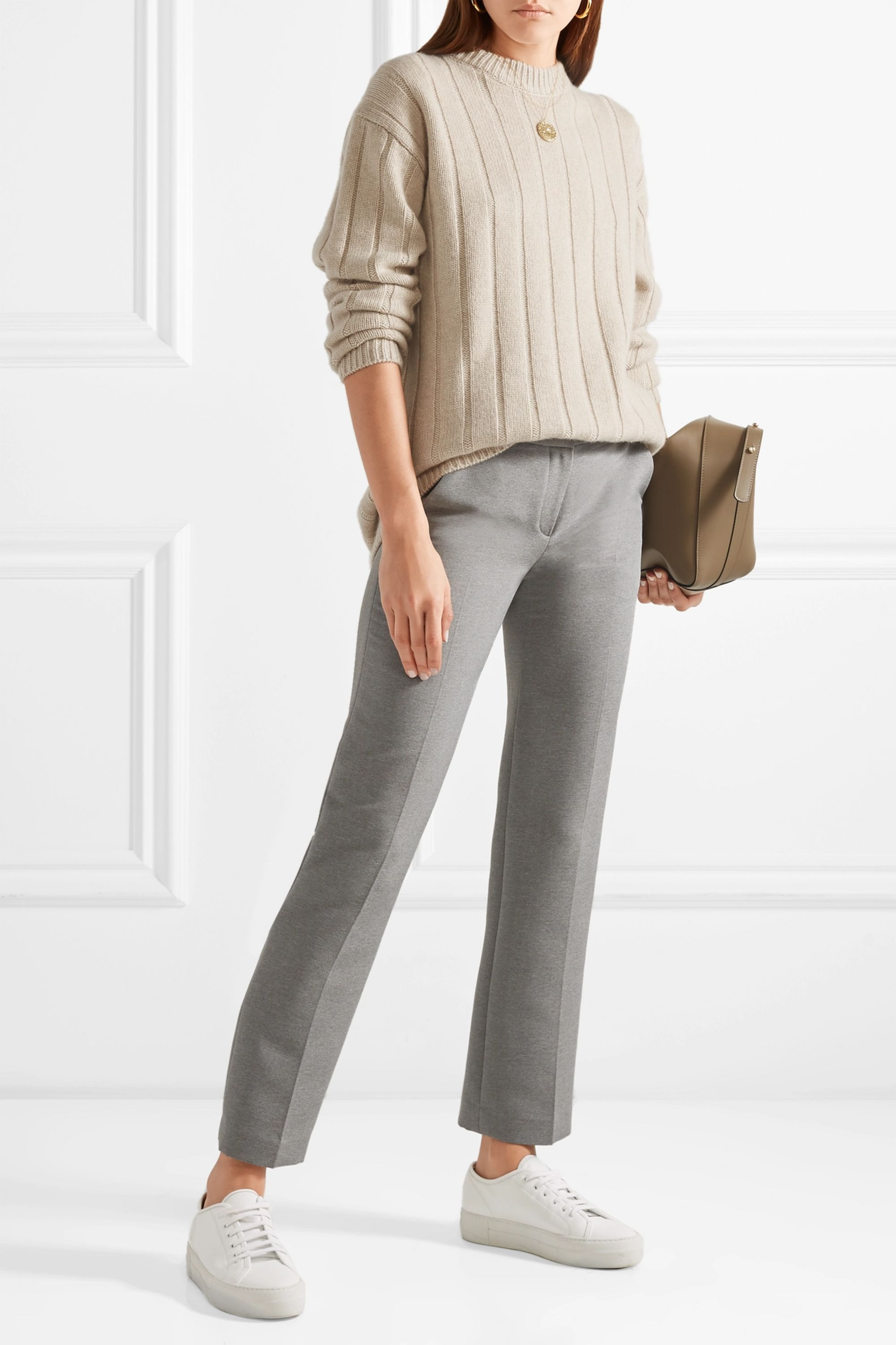 The Row Lilla ribbed cashmere sweater