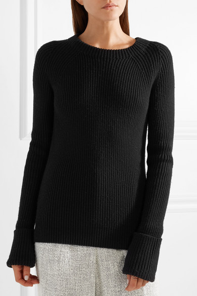 The Row Sabra Pullover aus gerippter Wolle