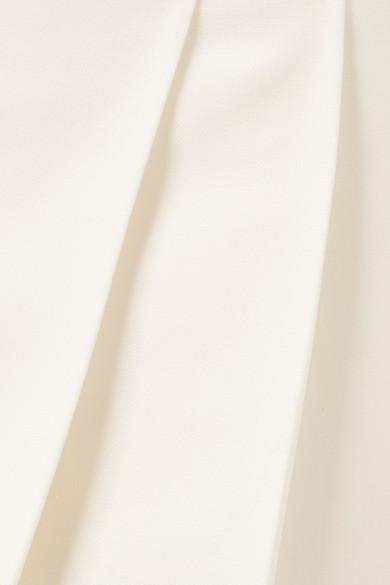 The Row Lian Hose mit weitem Bein aus einer Wollmischung mit Falten