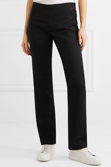 Danu Wool-blend Straight-leg Pants - Black The Row kRBOasS7M