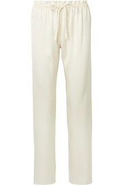 The Row Paco silk-satin straight-leg pants