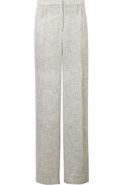 Hester tweed wide-leg pants
