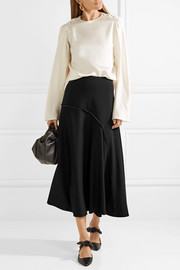 Chouli paneled stretch-crepe midi skirt