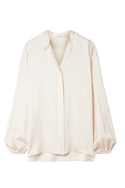 The Row Maura silk-satin blouse