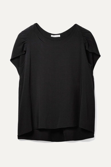 Ada Cape Effect Stretch Cady Top by The Row
