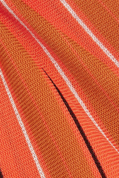 SIMON MILLER Capol gestreifte Tunika aus einer Baumwollmischung