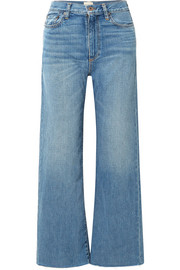 Kasson mid-rise wide-leg jeans