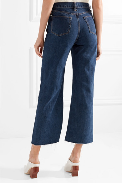 SIMON MILLER Toluca verkürzte, hoch sitzende Jeans mit weitem Bein
