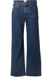 Toluca cropped high-rise wide-leg jeans