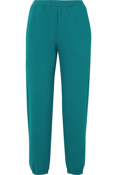 SIMON MILLER - Yuba Organic Cotton-terry Track Pants - Teal
