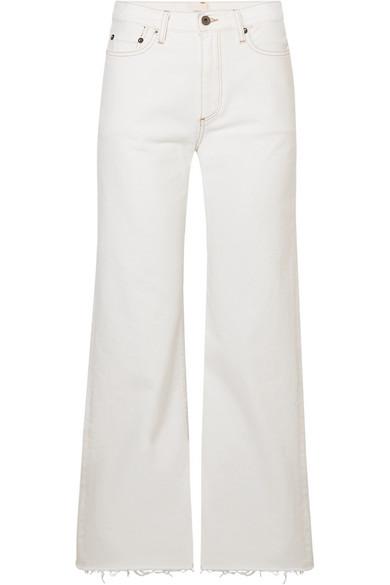 SIMON MILLER W006 Enid halbhohe Jeans mit weitem Bein