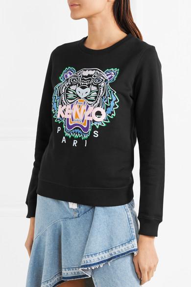 KENZO Besticktes Sweatshirt aus Baumwoll-Jersey