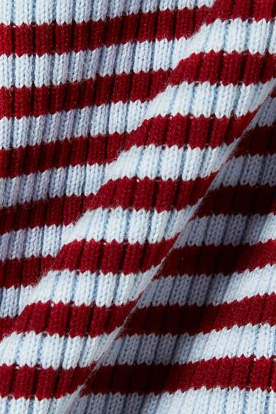 KENZO Gestreifter Midirock aus einer Stretch-Baumwollmischung