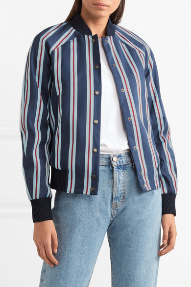 Kenzo Striped Bomberjacket From A Cotton Blend