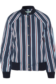 KENZO Striped cotton-blend bomber jacket