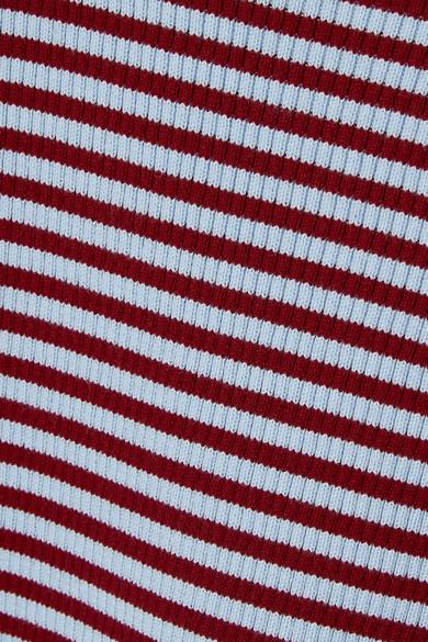 KENZO Gestreifer Pullover aus einer gerippten Baumwollmischung