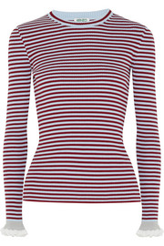 KENZO Striped ribbed cotton-blend sweater