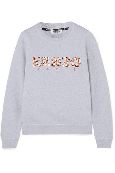 Eastbay Online Auslass Echt KENZO Besticktes Sweatshirt aus Baumwoll-Jersey DKidU7