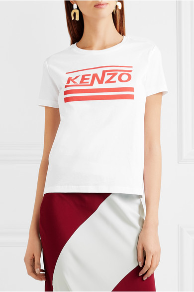 KENZO Bedrucktes T-Shirt aus Baumwoll-Jersey