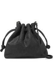 Henri small metallic suede bucket bag