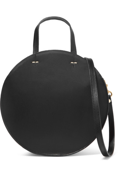 Clare V ALISTAIR SMALL LEATHER SHOULDER BAG